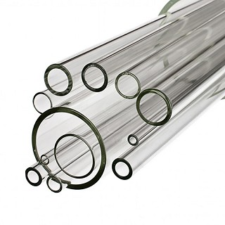 Simax Clear Glass 44.4 x 4mm Tube - Case of 16 Tubes
