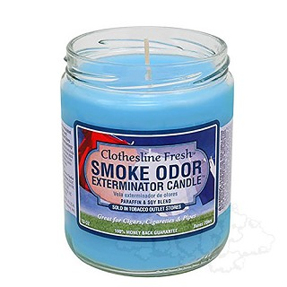 Smoke Odor Exterminator Candle - Clothesline Fresh.  SOC-CLOTH