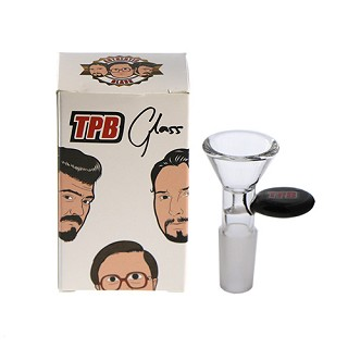 Trailer Park Boys Glass Bowl 14mm Black.  TPBG-BOWL-B