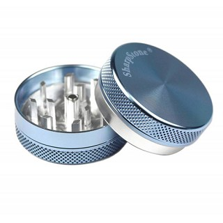 "Sharpstone Grinder 2 Piece Blue Small 2.2"" BL-328S-BLU"