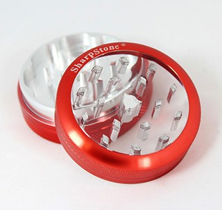 "Sharpstone Grinder Clear Top 2pc Red Size: 2.2"". BL-360S-RED"