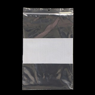 "4x6"" Clear Baggie With Label. BG-4"