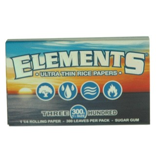 "Elements 1.25"" Ultra Thin Rice Papers 300 Single Pack. S-ELEMENTS-300"