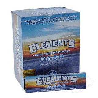 Elements Ultra Thin Rice Papers King Size.  ELEMENTS-KING