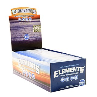 Elements Single Wide Rolling Papers 50 Pack.  ELEMENTS-REG-50