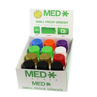 Case Of 12 Assorted Colour Original MedTainer.  MED-T3