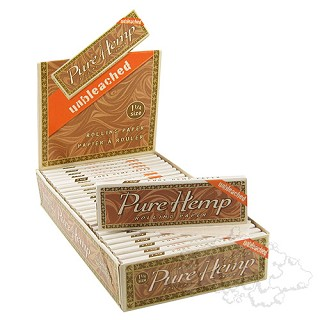 "Pure Hemp Unbleached 1.25"" Rolling Papers. PURE-UB-1.25"